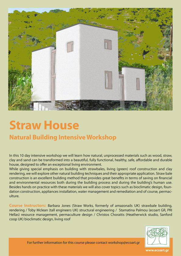 straw house flyer